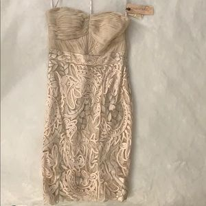 Sue Wong Champagne Cocktail Dress-Brand New